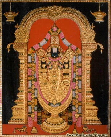 Tanjavur Painting of Lord Balaji