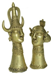 BM 13107 Tribal head Pair (2)