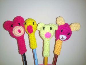 Crochet Pen toppers
